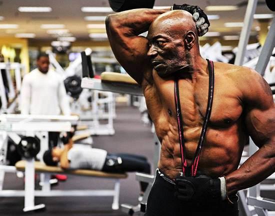 70 Year old bodybuilder sam